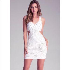 Bebe White Embellished Dress